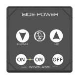 Touch control panel windlass, rectangular, 12/24v